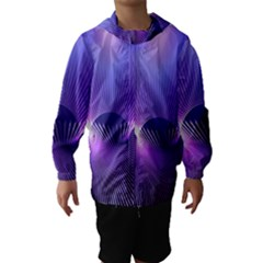 Space Galaxy Purple Blue Line Hooded Wind Breaker (Kids)