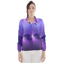 Space Galaxy Purple Blue Line Wind Breaker (Women)