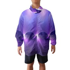 Space Galaxy Purple Blue Line Wind Breaker (Kids)