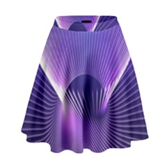 Space Galaxy Purple Blue Line High Waist Skirt