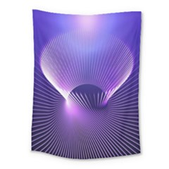 Space Galaxy Purple Blue Line Medium Tapestry