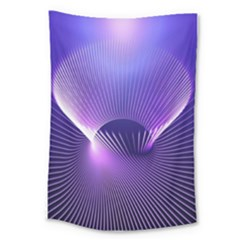 Space Galaxy Purple Blue Line Large Tapestry