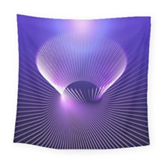 Space Galaxy Purple Blue Line Square Tapestry (large)