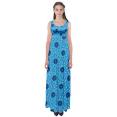 Shweshwe Fabric Empire Waist Maxi Dress