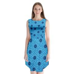 Shweshwe Fabric Sleeveless Chiffon Dress