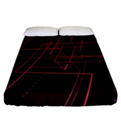 Space Path Line Fitted Sheet (king Size)