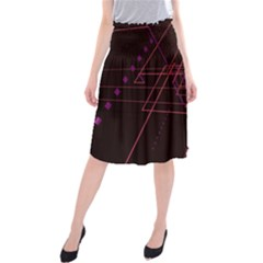 Space Path Line Midi Beach Skirt