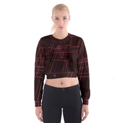 Space Path Line Women s Cropped Sweatshirt
