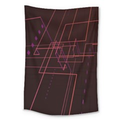Space Path Line Large Tapestry