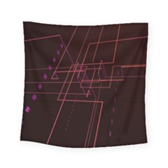 Space Path Line Square Tapestry (small)
