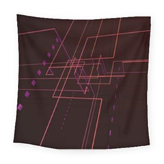 Space Path Line Square Tapestry (large)