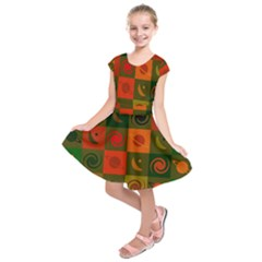 Space Month Saturnus Planet Star Hole Black White Multicolour Orange Kids  Short Sleeve Dress