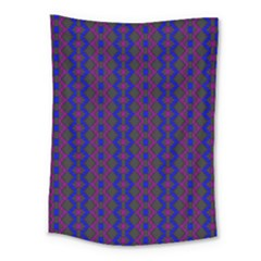 Split Diamond Blue Purple Woven Fabric Medium Tapestry
