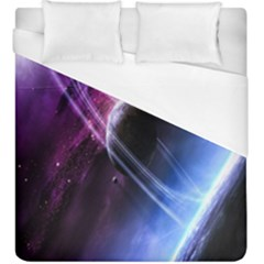 Space Pelanet Saturn Galaxy Duvet Cover (king Size)