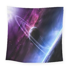 Space Pelanet Saturn Galaxy Square Tapestry (large)