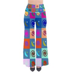 Space Month Saturnus Planet Star Hole Multicolor Pants