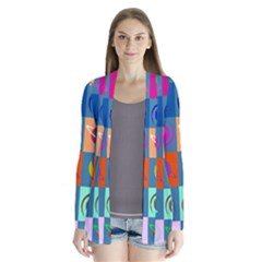 Space Month Saturnus Planet Star Hole Multicolor Cardigans