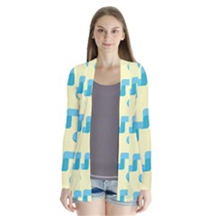 Squiggly Dot Pattern Blue Yellow Circle Cardigans