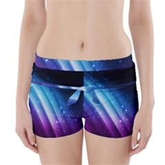 Space Purple Blue Boyleg Bikini Wrap Bottoms