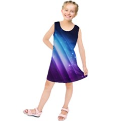 Space Purple Blue Kids  Tunic Dress