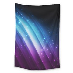 Space Purple Blue Large Tapestry