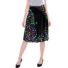 Space Butterflies Midi Beach Skirt