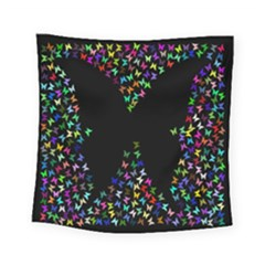 Space Butterflies Square Tapestry (small)