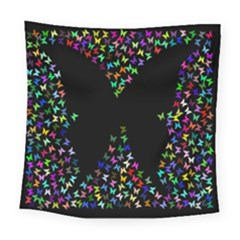Space Butterflies Square Tapestry (large)