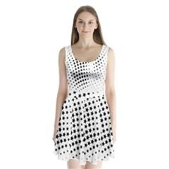 Star Split Back Mini Dress