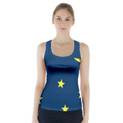 Star Moon Blue Sky Racer Back Sports Top