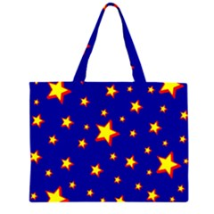 Star Blue Sky Yellow Large Tote Bag