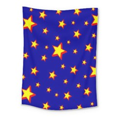 Star Blue Sky Yellow Medium Tapestry
