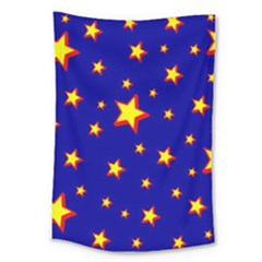 Star Blue Sky Yellow Large Tapestry