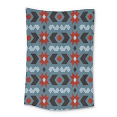 Star Wave Chevron Grey Gray Small Tapestry