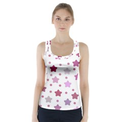 Star Purple Racer Back Sports Top