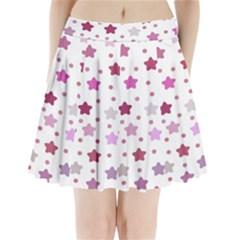 Star Purple Pleated Mini Skirt