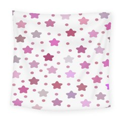Star Purple Square Tapestry (large)