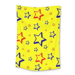 Star Yellow Red Blue Small Tapestry