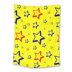 Star Yellow Red Blue Medium Tapestry
