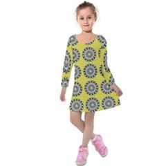Sunflower Kids  Long Sleeve Velvet Dress