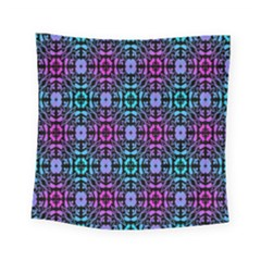 Star Flower Background Pattern Colour Square Tapestry (small)