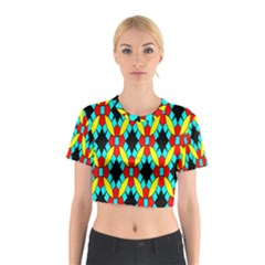 Tiling Flower Star Cotton Crop Top