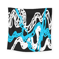 Tangled Rope Blue White Square Tapestry (small)