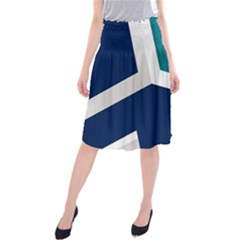 Tri Star Flag Midi Beach Skirt