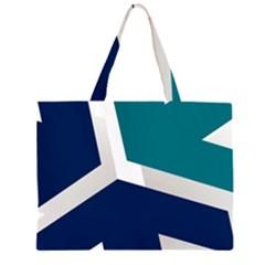 Tri Star Flag Large Tote Bag