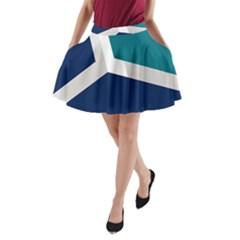 Tri Star Flag A-Line Pocket Skirt