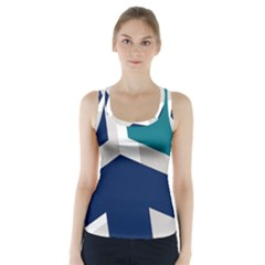 Tri Star Flag Racer Back Sports Top
