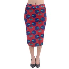Texture Bright Circles Midi Pencil Skirt