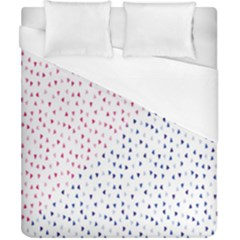 Triangle Red Blue Duvet Cover (california King Size)