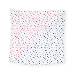 Triangle Red Blue Square Tapestry (small)